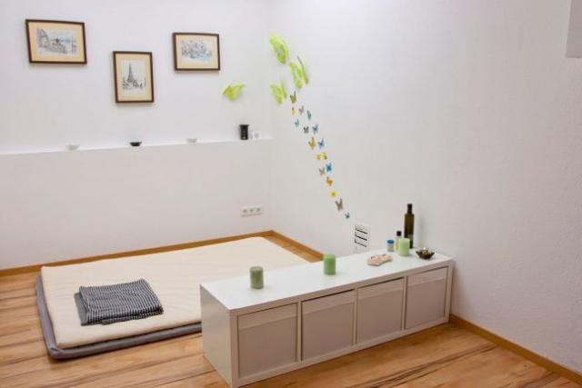 Behandlungszimmer 2 für Nuad und Massage mit Massagematte